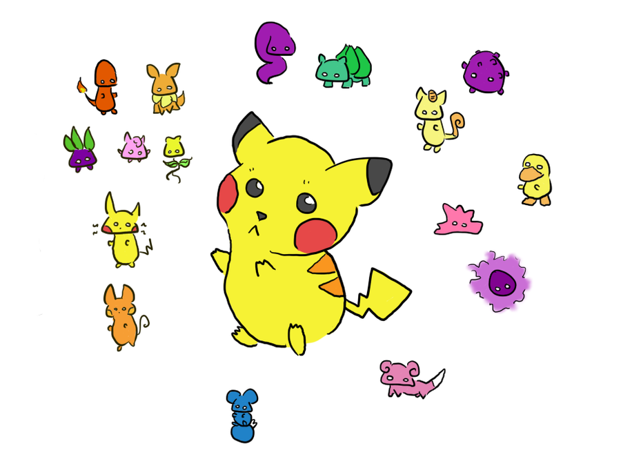 Pin Pikachu And Friends Pokemon Colouring Pages on Pinterest