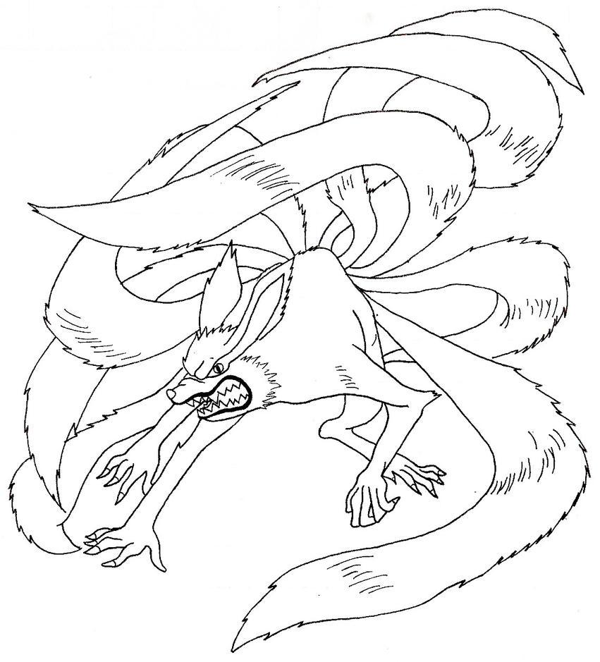 Kyubi by aury kashita on deviantart - Naruto kyubi dessin ...