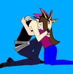 Yugi hug his daughter, Violet