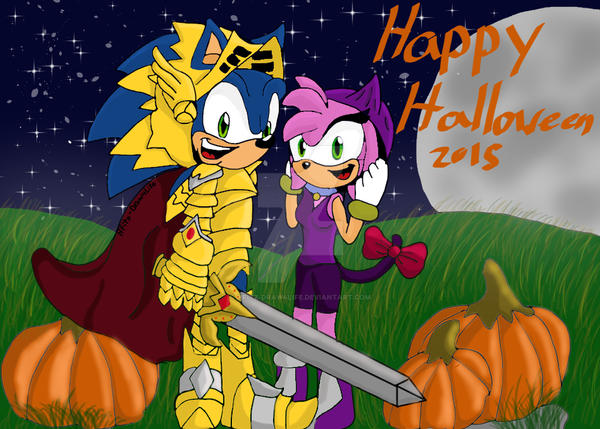 A Sonamy Halloween by HFitz-Draw4Life