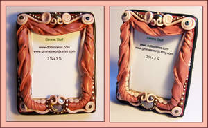 Polymer clay picture frame