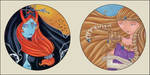 Zedal and Midna Plaques by Gimmeswords