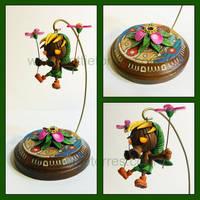 Deku Link Sculpture by Gimmeswords