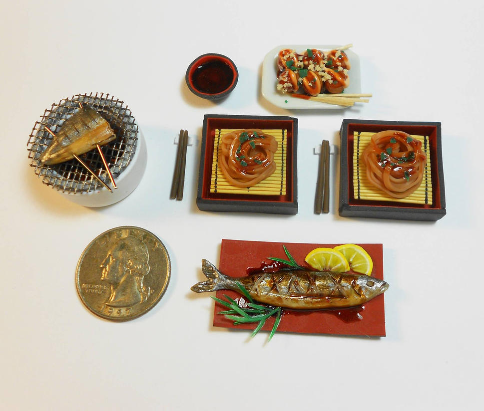 Miniature Japanese Dinner for 2 by Gimmeswords