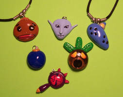 Zelda Necklace Charms by Gimmeswords