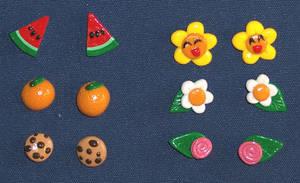 Cute earring studs by Gimmeswords