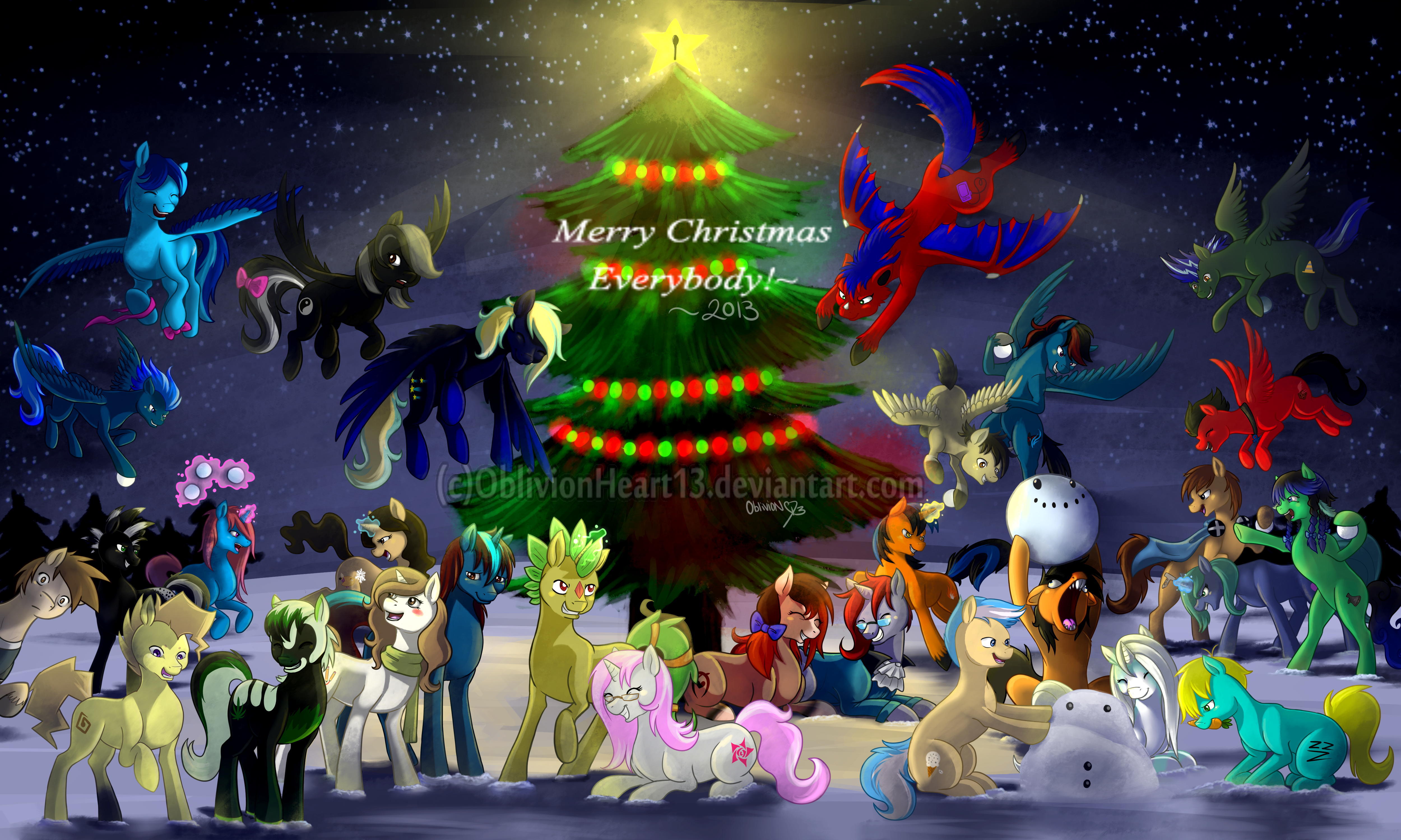 A Pikapetey Christmas 2013 by OblivionHeart13