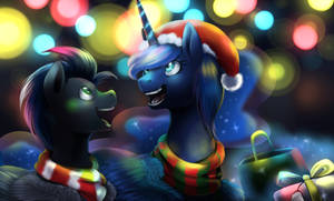 Christmas Night (Commission) by OblivionHeart13