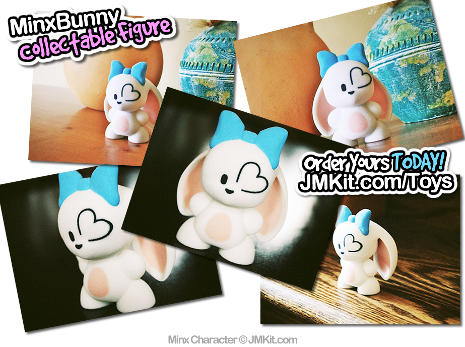 MinxBunny Official Collectable Toy by JinxBunny