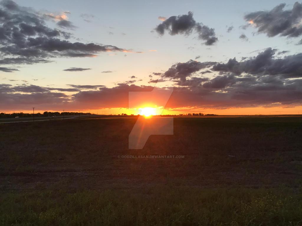 East Forney Sunset by godzillaSan