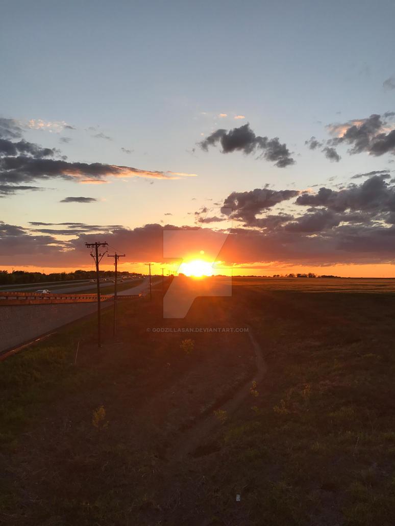 East Forney Sunset 1 by godzillaSan
