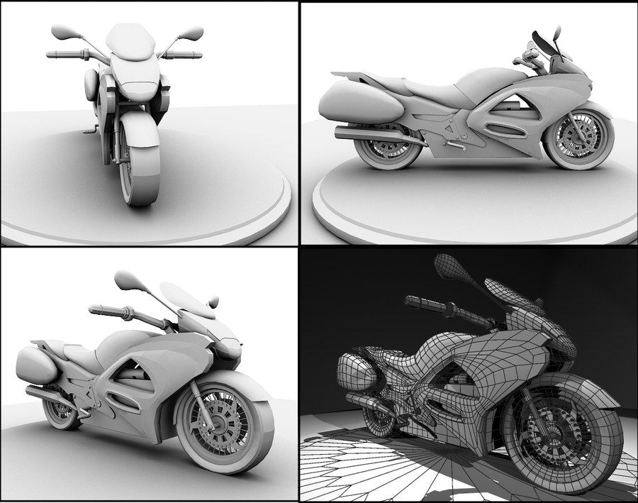 Motorcycle for contest by Kouru17
