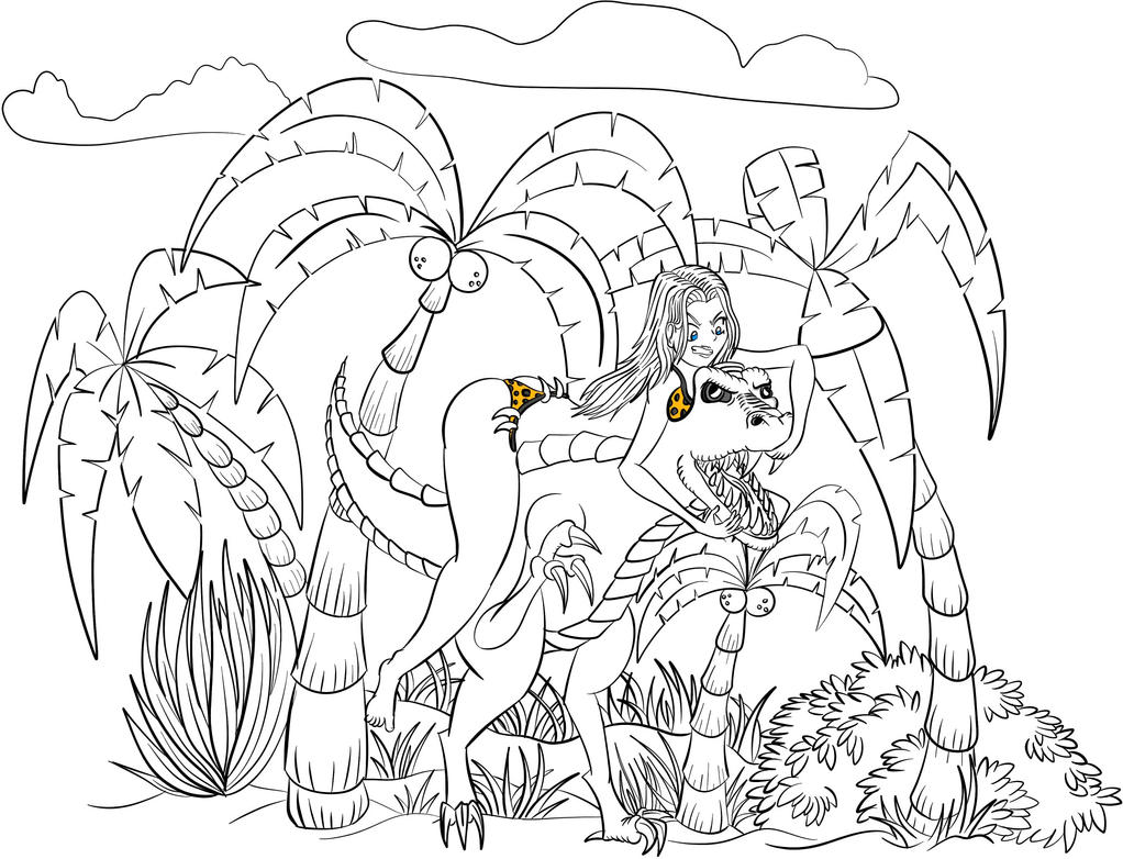 Queen Kong Vs Rex by corrodedspoon