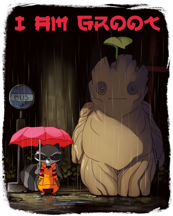 My Neighbor Groot by sambragg