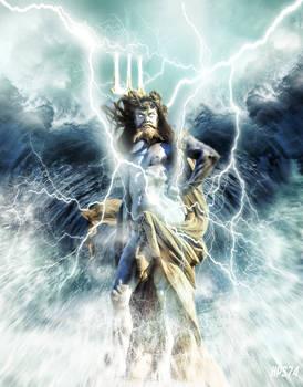 Neptune Rising - statue manipulation