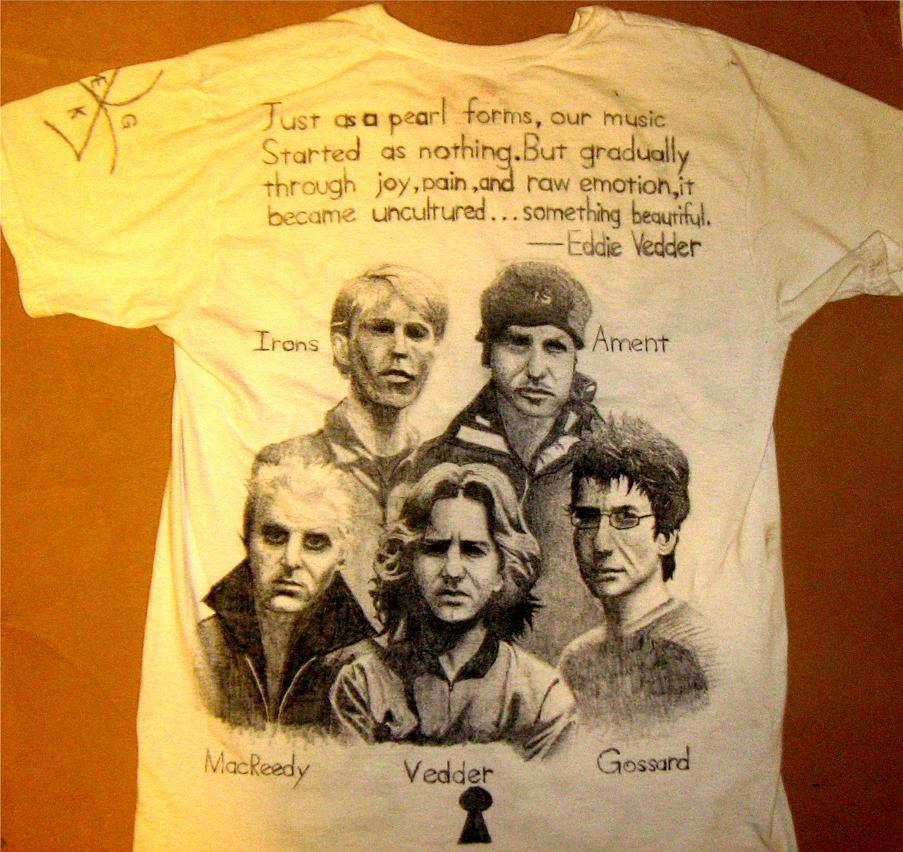 "Pearl Jam T-shirt ""back"" by Crimsonesque"