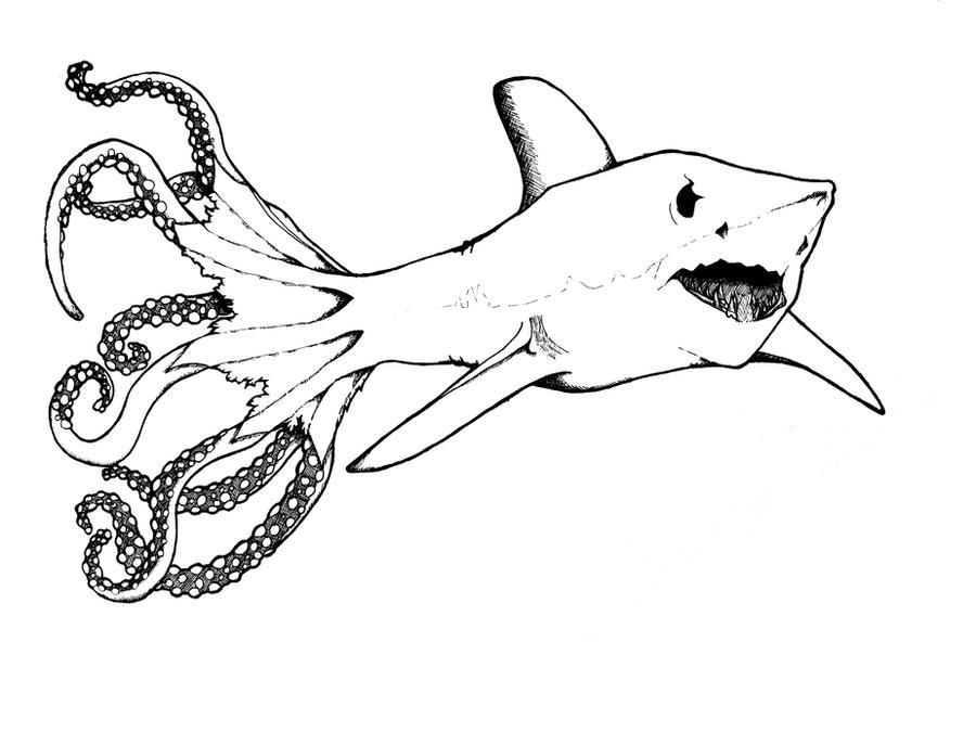sharktopus by purpleheyze sharktopus by purpleheyze
