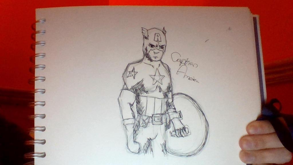 Captian America Drawing ||200th deviantion|| by demonandangelend
