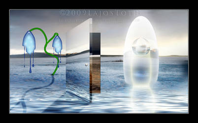Dream Of A Door And Egg by Lajos-Toth