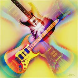 Fender Blacktop Strat art by Lajos Toth