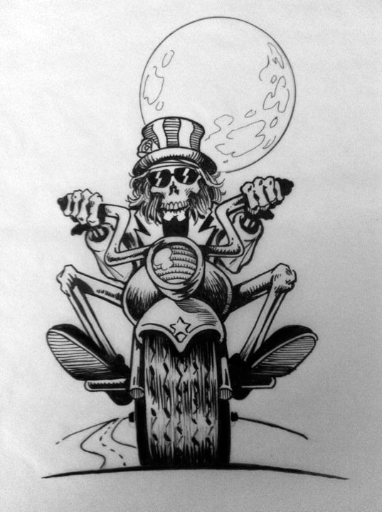 grateful dead biker by simianbrothers on deviantart. Black Bedroom Furniture Sets. Home Design Ideas