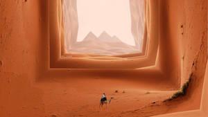 Desierto Cuadro desierto arte abstracto