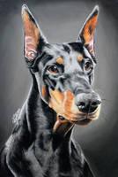 Doberman - portrait by Annasko