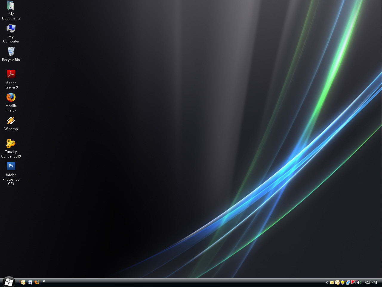 Black vista desktop