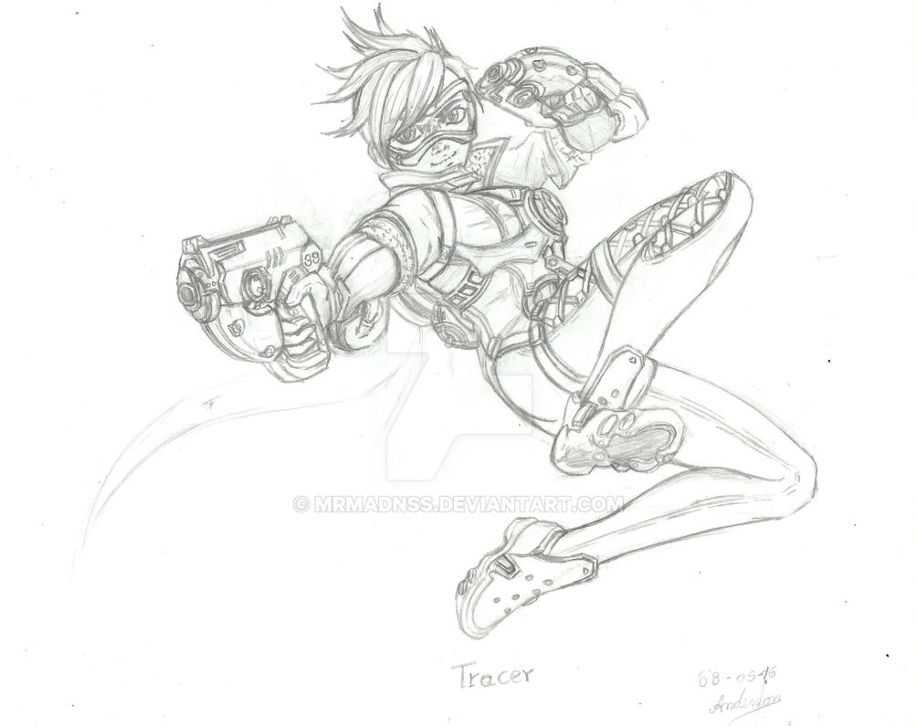 D Line Drawings Quest : Overwatch tracer by mrmadnss on deviantart
