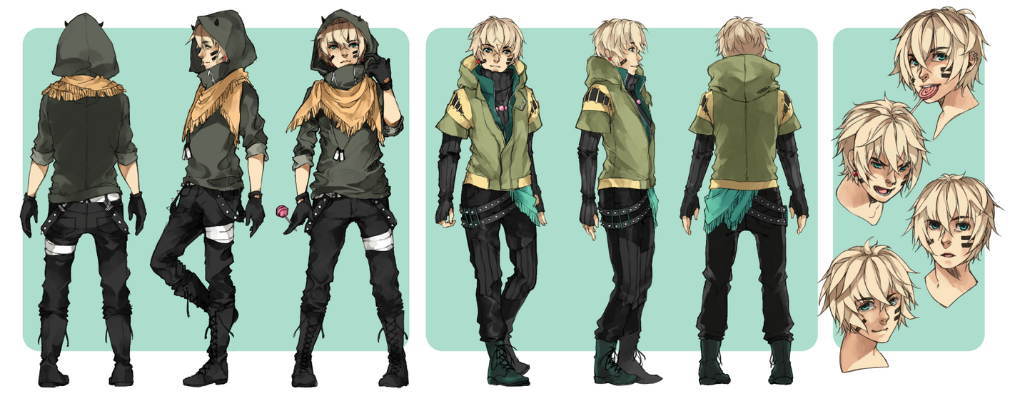 Coolest Anime Character Design : Character sheet keil by crys art on deviantart