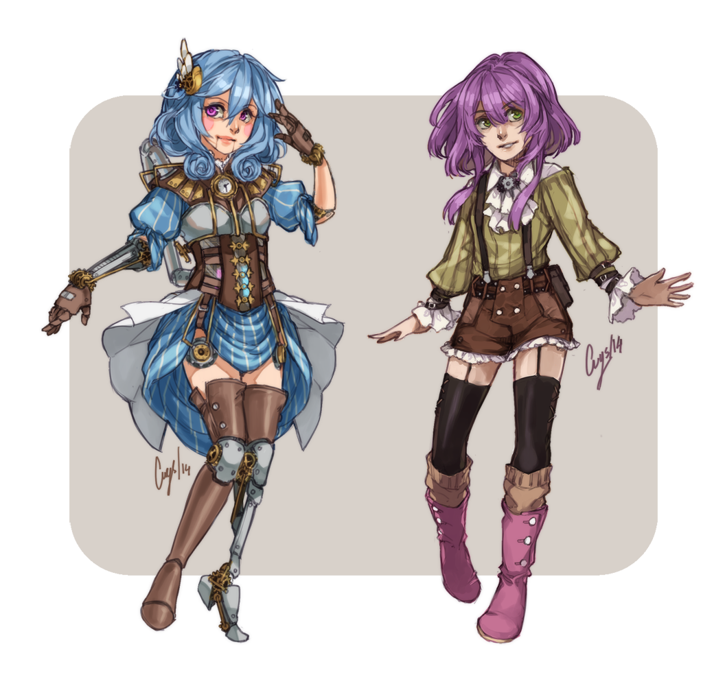Custom Designs: Steampunk Alpha and Isabelle by c-r-y-s