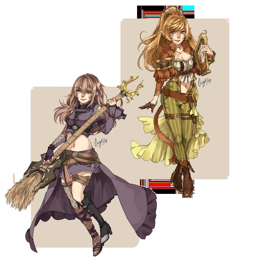 SC Lelata and Zayla by crys-art