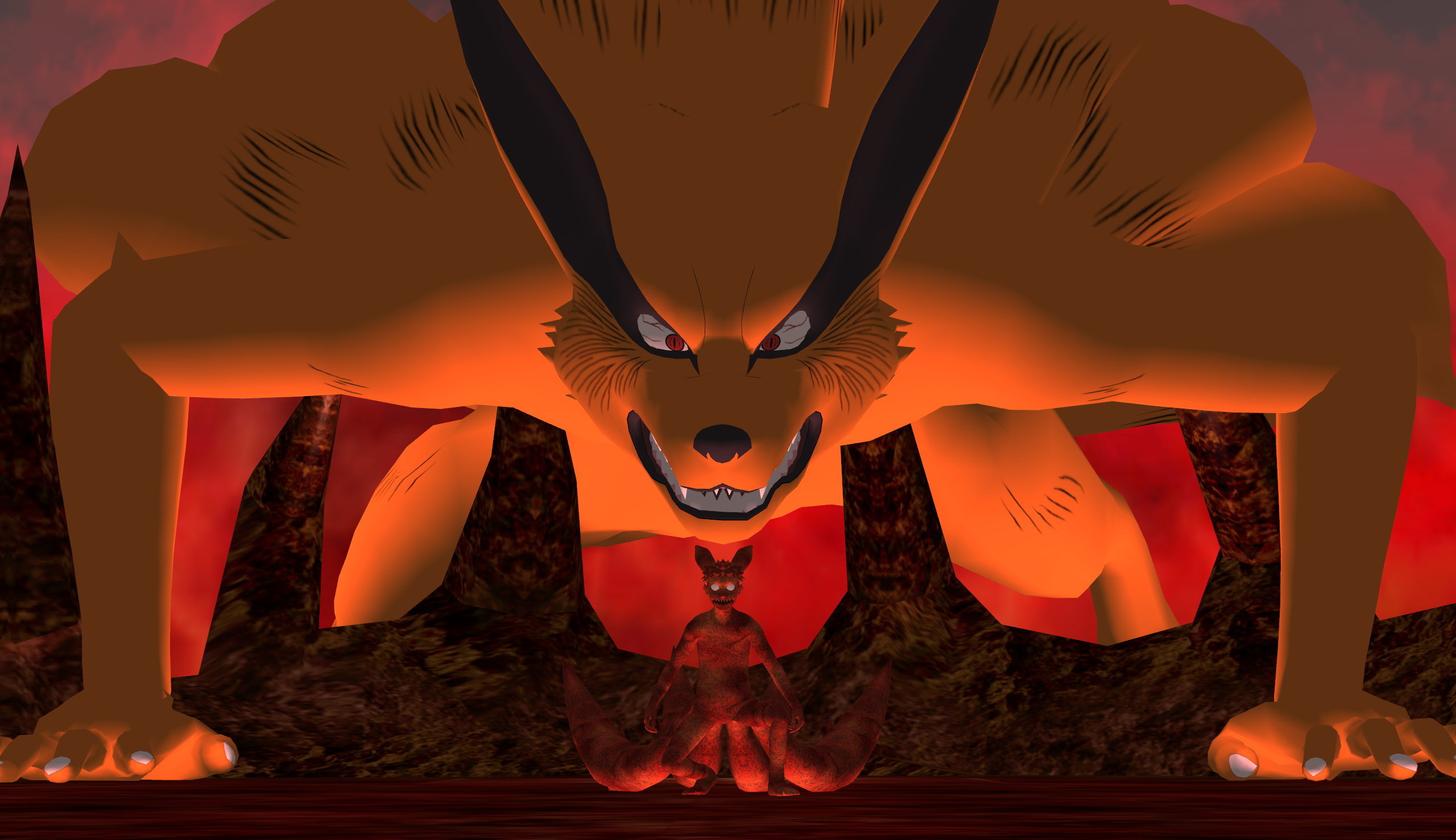 Kyuubi Kurama And Four Tailed Naruto Wallpaper By Agrael34