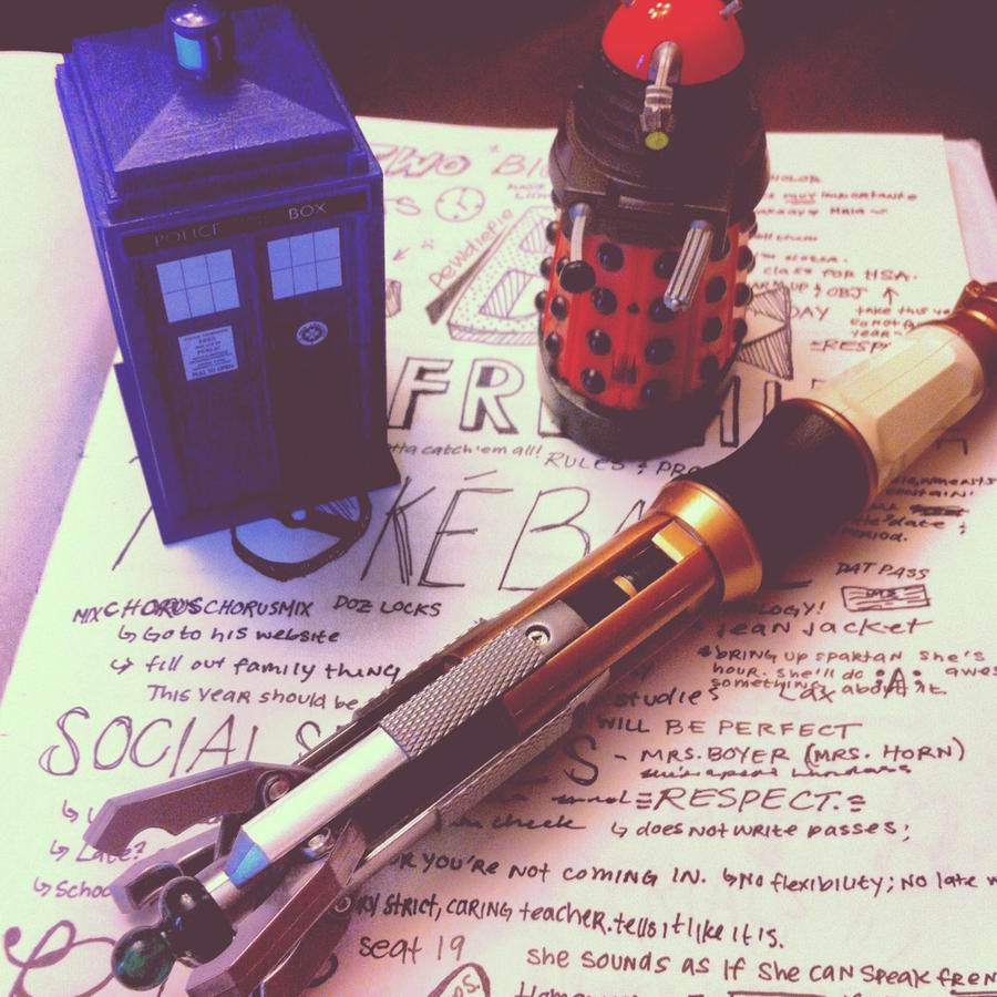 The TARDIS, Sonic Screwdriver, and a Dalek by Dentriloquism