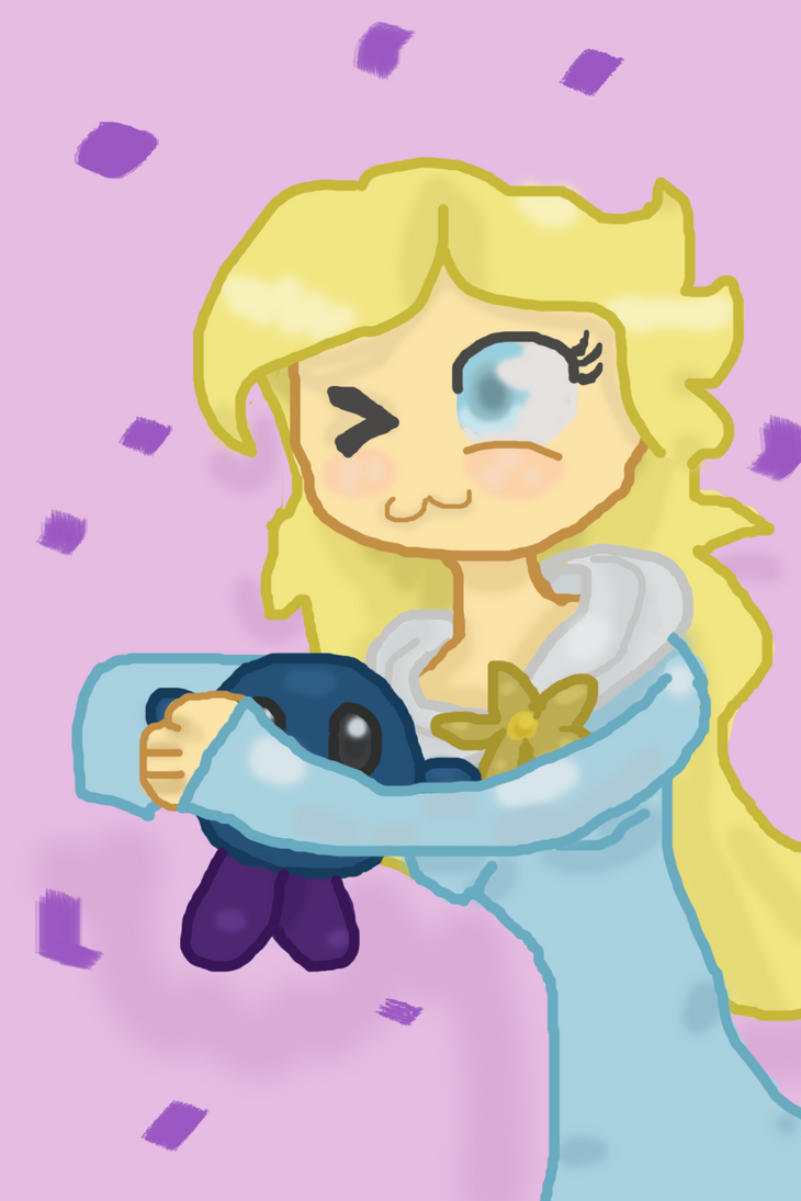 Rosalina and unmasked metanight: Art trade by omgCheez
