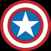 escudo del capitan america by SpiritGoldenXD
