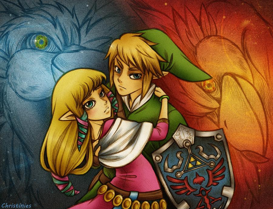 Skyward Sword Link And Zelda By Christinies