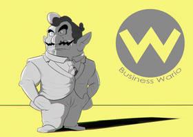 Business Wario by Heccentrik