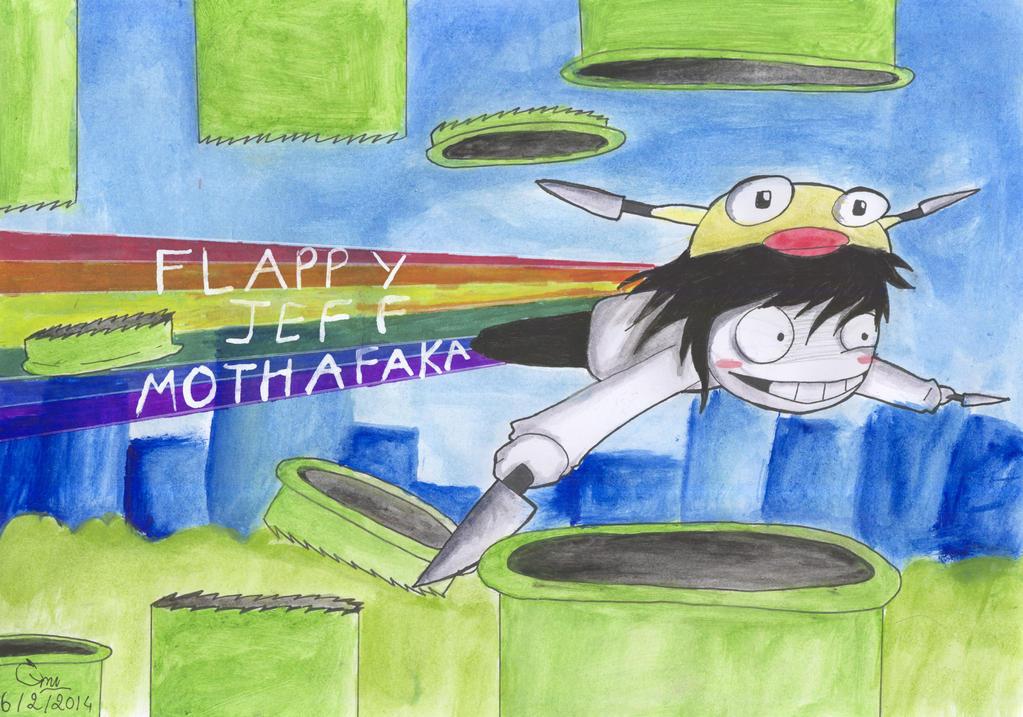 [CREEPYPASTA - CROSSOVER] Flappy Jeff by XxkaibutsukoxX