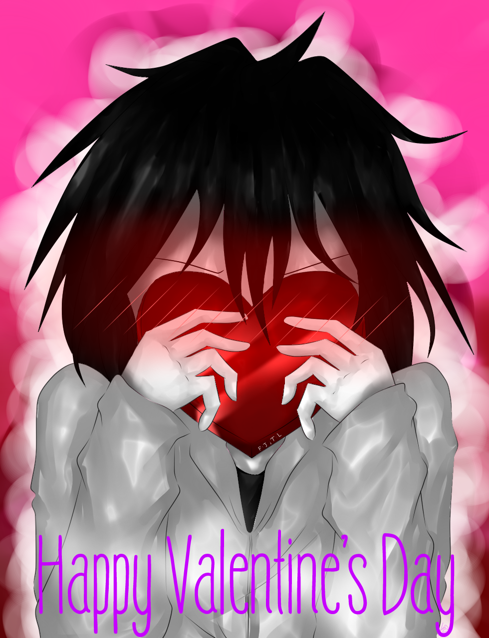Creepypasta happy valentine 39 s day from jeff by - Happy valentines day anime ...