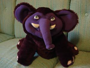 Leeroy the purple elephant