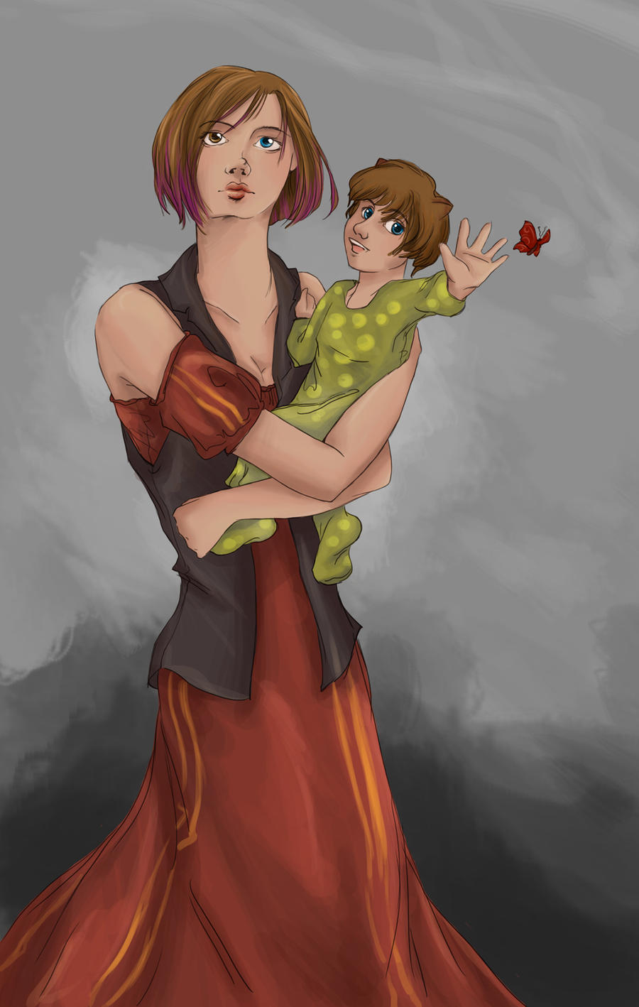 Teddy and Tonks by seri-serotina