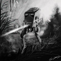 Star Wars VI - Walker AT-ST by PetuGee