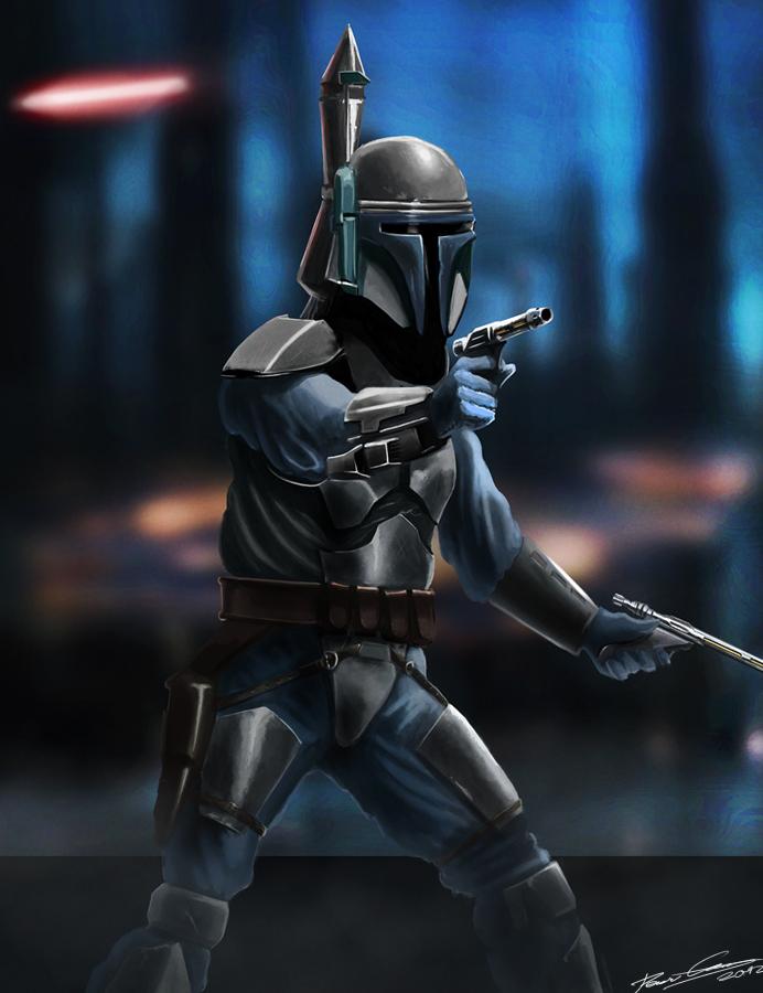 Star Wars II - Jango fett by PetuGee