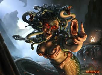 Monstrous - Medusa by JarrodOwen