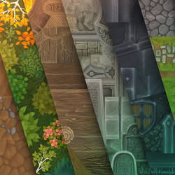 Hand painted textures for Isometric Pack