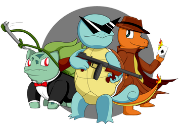 Squirtle Squad by iwolf208