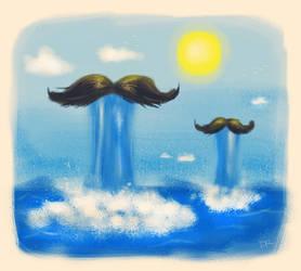 Moustache Waterfalls by strepsil