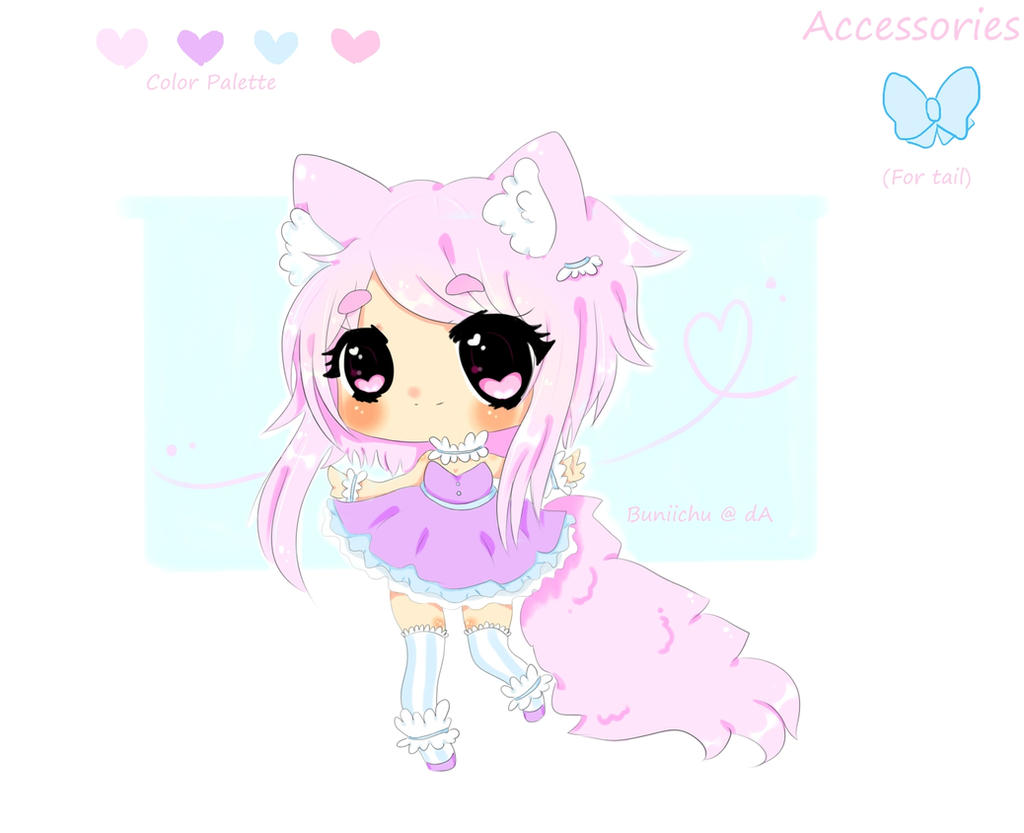 Cute Nekomimi Adopt auction(Closed) by Miumeii