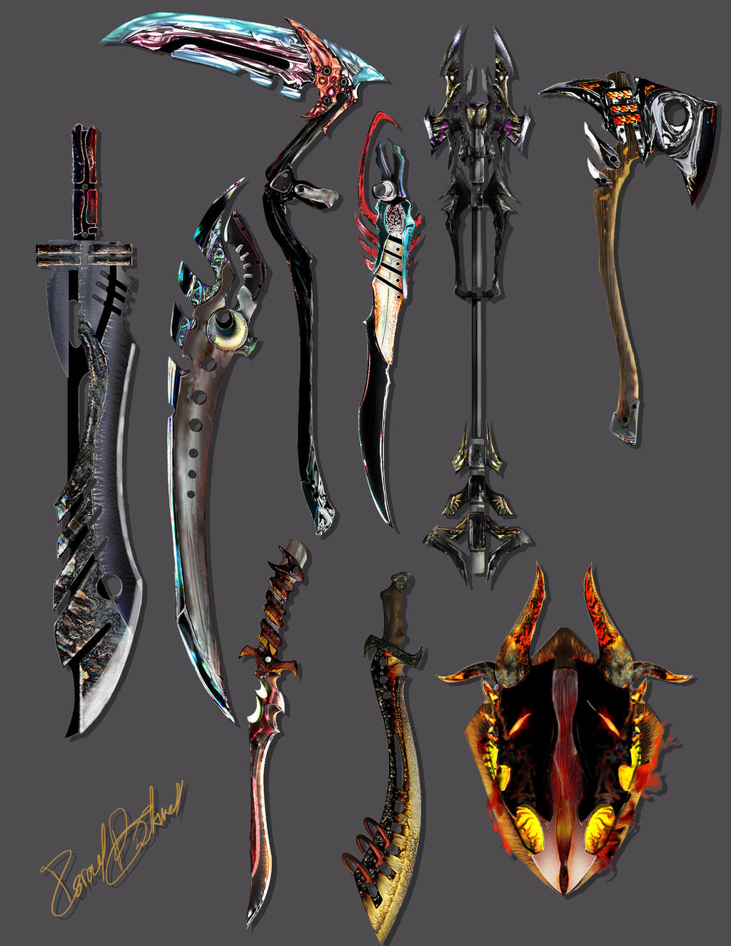 weapons of choice by Josiah-Black